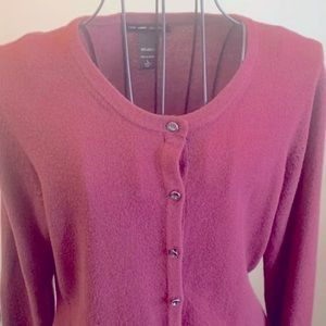 NYC Soft Sweater Bling Button Cardigan Large